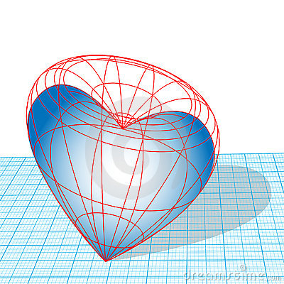 Free Valentine Heart Wireframe Stock Photos - 3179103