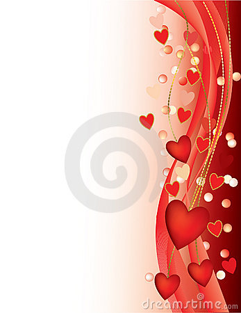 Free Valentine Hearts And Pearls Stock Photos - 16350433