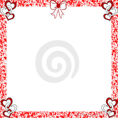 Valentine Hearts Frame Distressed Edges