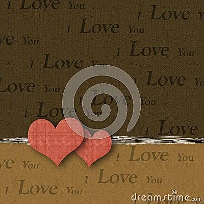 Valentine Hearts - I Love You