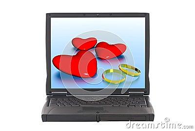Valentine hearts, online dating