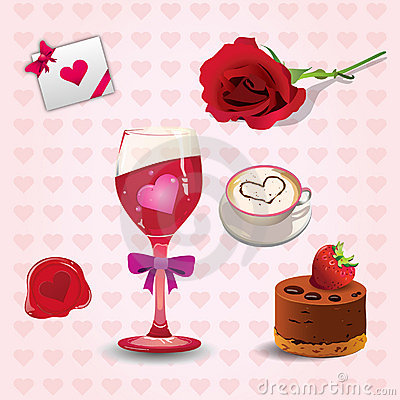 Valentine icon set
