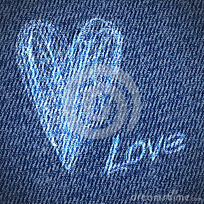 Free Valentine Jeans Grunge Heart Background Royalty Free Stock Image - 28656586