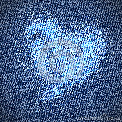 Free Valentine Jeans Heart Background Royalty Free Stock Images - 28656599