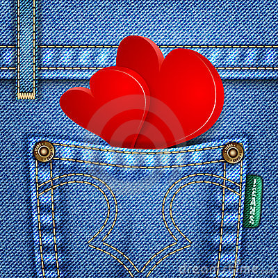 Free Valentine Jeans Texture Royalty Free Stock Image - 22928156