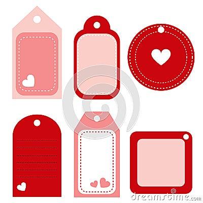 Valentine labels - vector