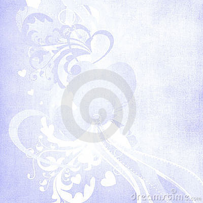 Valentine lilac art deco heart