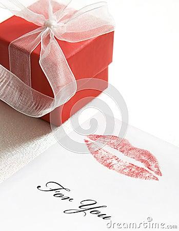 Valentine lipstick kiss