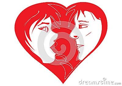Valentine in-love couple