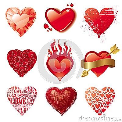 Free Valentine Love Hearts Royalty Free Stock Photos - 17835618