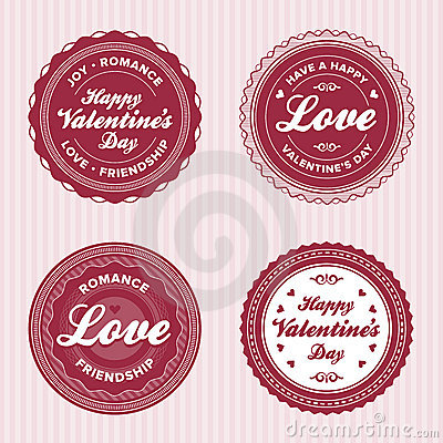Valentine love labels