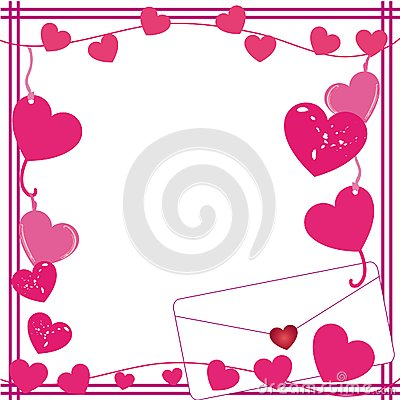 Valentine Love Letter Border Royalty Free Stock Photos ...