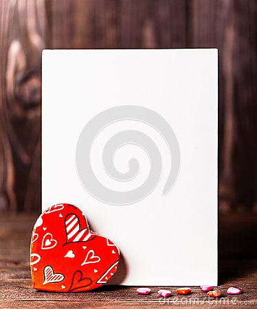 Free Valentine. Love. Valentine`s Day Postcard. Love Concept For Mother`s Day And Valentine`s Day. Happy Valentine`s Day Hearts On Wood Stock Image - 107724021