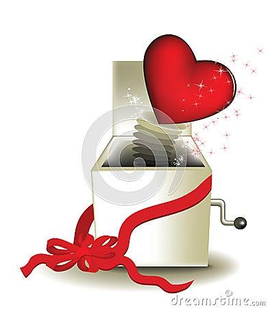 Valentine magic box