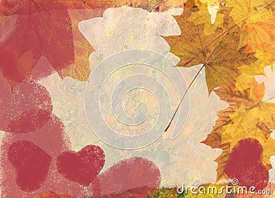 Valentine maple background