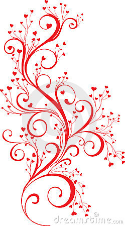 Free Valentine Ornament With Heart-shapes Royalty Free Stock Photo - 7522495
