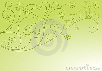 Valentine ornamental background