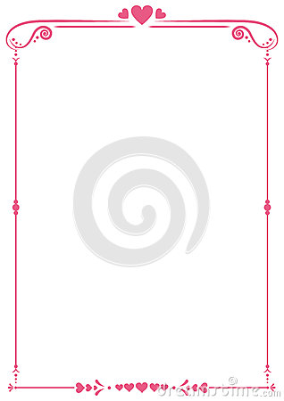 Free Valentine Paper Border Stock Photography - 65054562