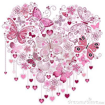 Free Valentine Pink Big Heart Stock Images - 36714204