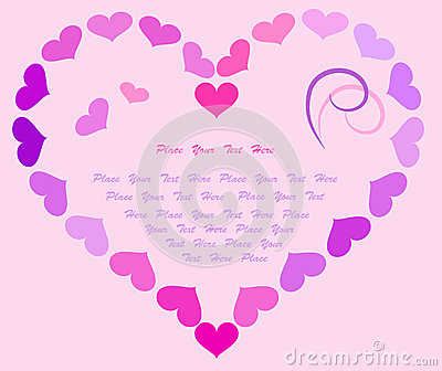 Valentine post card. Place for text.