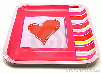 Valentine Romantic Plate