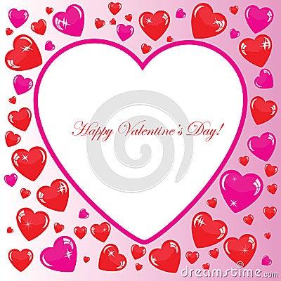 Valentine s background with big white heart
