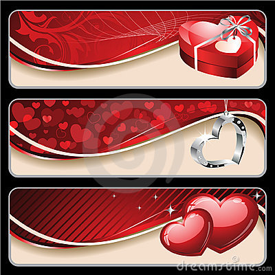 Free Valentine S Banners Royalty Free Stock Photography - 17311407
