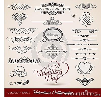 Valentine s calligraphy