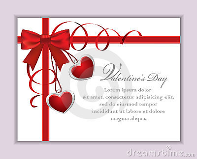 Valentine s Card with Bow