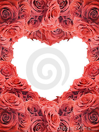 Free Valentine S Card With Red Roses Stock Images - 17716644