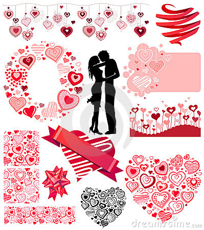 Valentine s collection of different hearts