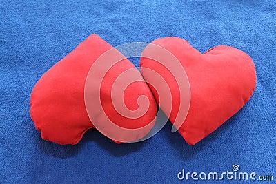 Heart-shaped pillows