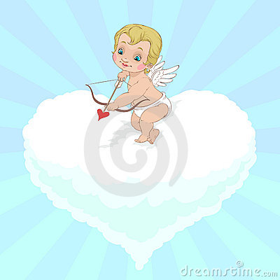 Valentine s Day Angel aiming
