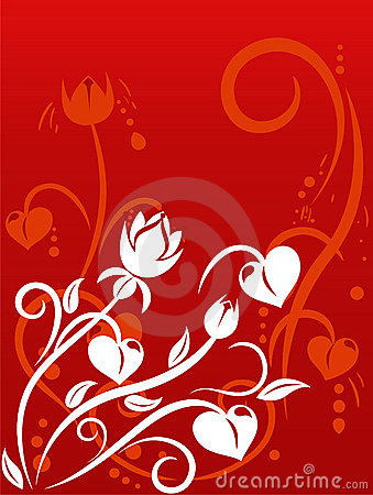 Valentine s Day background with hearts
