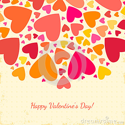 Valentine's Day Background With Hearts. Stock Image - Image: 36182621