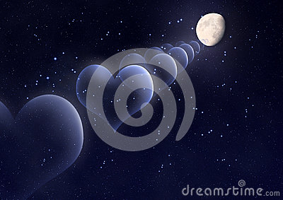 Valentine's Day Background With Hearts, Moon And Stars ... Golf Ball On Tee Clipart