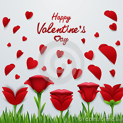 Valentine`s day background Vector Illustration