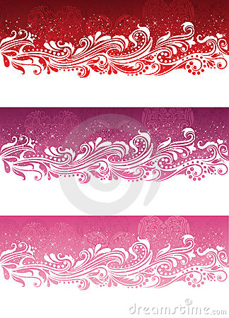 Valentine s day banners.