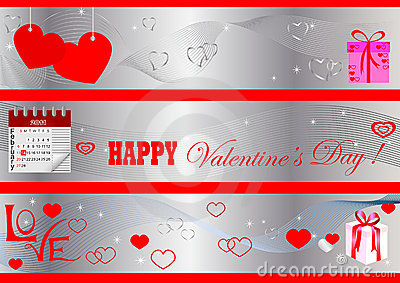 Valentine s Day banners. vector.