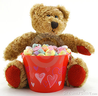 Valentine s Day Bear with Candy Hearts