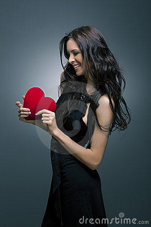 Valentine s Day. Beautiful smiling woman