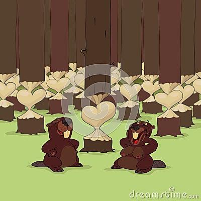 Valentine s Day of beavers