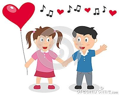 Valentine s Day Boy and Girl