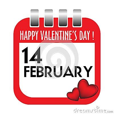 Valentine s Day calendar sheet