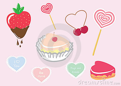 Valentine's Day Candy Set Stock Photography - Image: 12461702