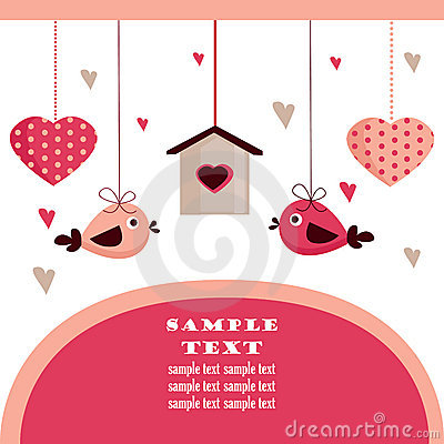 Valentine s day card with place for your text,