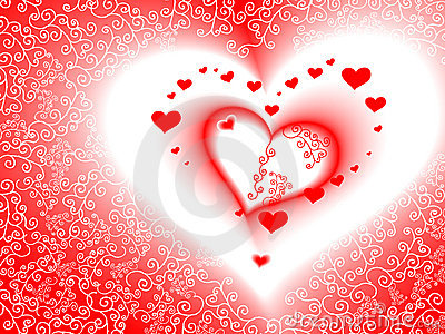 Valentine s day card, vector, romantic heart