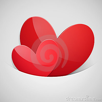 Free Valentine`s Day Card With Hearts Stock Photo - 22917870
