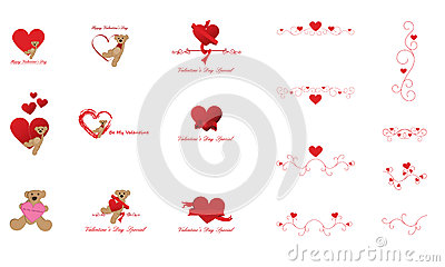 Valentine s Day Clip Art and Design Elements