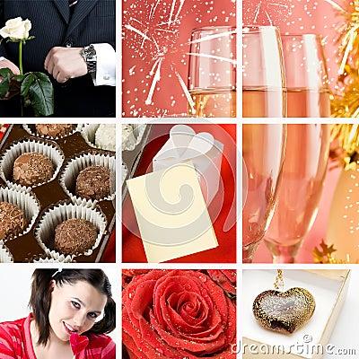 Valentine`s day collage